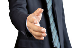Businessman hand offering handshake Royalty Free Stock Image