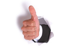 Businessman hand OK Royalty Free Stock Photography