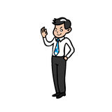 Businessman hand ok sign and blink eye Royalty Free Stock Image