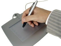 Businessman hand with pen Royalty Free Stock Image