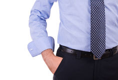Businessman with hand in pocket. Stock Photography