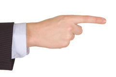 Businessman hand point. Stock Photography