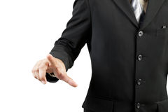 Businessman hand pushing Stock Image