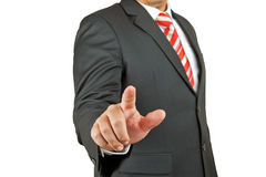 Businessman hand pushing Royalty Free Stock Image