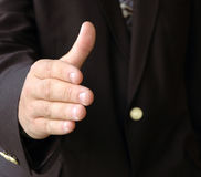Businessman hand shake Stock Image
