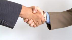 Businessman hand shake stock footage