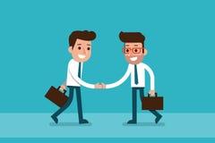 Businessman hand shaking. Businessman hand shaking, flat design cartoon Royalty Free Stock Image