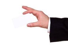 Businessman hand show blank card Royalty Free Stock Photo
