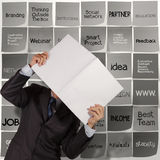Businessman hand show book of business stragtegy Stock Images