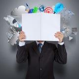 Businessman hand show book of success business Stock Photo