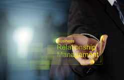 Businessman hand show business relationship management Stock Photography