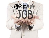 Businessman hand show design words DREAM JOB Stock Photos