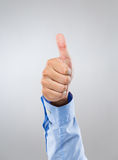 Businessman hand show with thumb up Stock Images