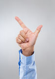 Businessman hand show with tick sign Royalty Free Stock Image