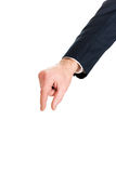 Businessman hand showing small size Royalty Free Stock Image