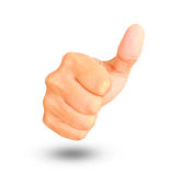 Businessman hand showing thumbs up Stock Photos