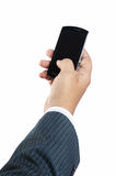 Businessman hand with smartphone Stock Photo