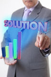 Businessman hand solution Royalty Free Stock Photography