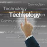 Businessman hand with technology background Royalty Free Stock Images