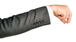 Businessman hand to hold small gadget Royalty Free Stock Photo