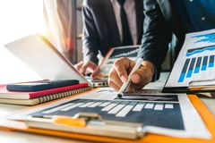 Business documents on office table royalty free stock photo