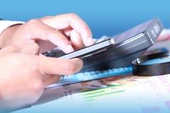 Businessman hand using smart phone Royalty Free Stock Image