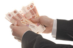 Businessman Hand With Money Stock Image