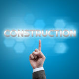 Businessman hand working with modern computer interface as Construction Royalty Free Stock Photos
