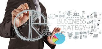 Businessman hand working Stock Image