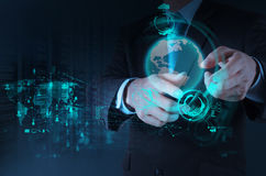 Businessman hand working with new modern technology Royalty Free Stock Photo