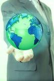 Businessman hand world Royalty Free Stock Photo