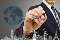 Businessman hand write Travel concept Stock Image
