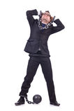 Businessman handcuffed Royalty Free Stock Photography