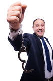 Businessman handcuffed Royalty Free Stock Photo