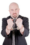 Businessman in handcuffs 2 Stock Photos