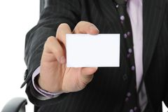 Businessman handing a blank Royalty Free Stock Photography