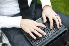 Businessman hands Stock Image