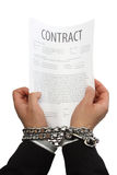 Businessman hands in chains Stock Photos