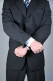 Businessman with hands crossed Royalty Free Stock Photos