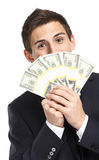 Businessman hands dollars Royalty Free Stock Photos