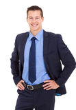Businessman hands on hip Stock Photos