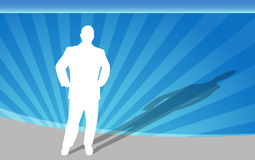 Businessman Hands on Hips Royalty Free Stock Images