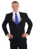 Businessman with hands on hips Stock Photos