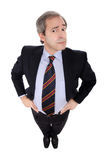 Businessman with hands on his hips Stock Images