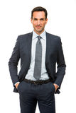 Businessman with hands in his pockets Stock Photo