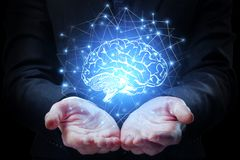 Artificial mind concept Royalty Free Stock Images