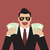 Businessman hands holding banknotes Royalty Free Stock Photos