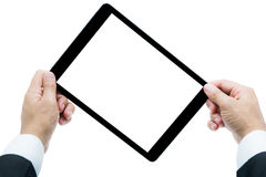 Businessman hands holding tablet  Stock Photography