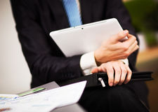Businessman hands are holding Stock Photography