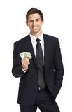 Businessman hands money Stock Image